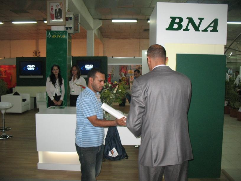 Organisation de foire, stand BNA.
