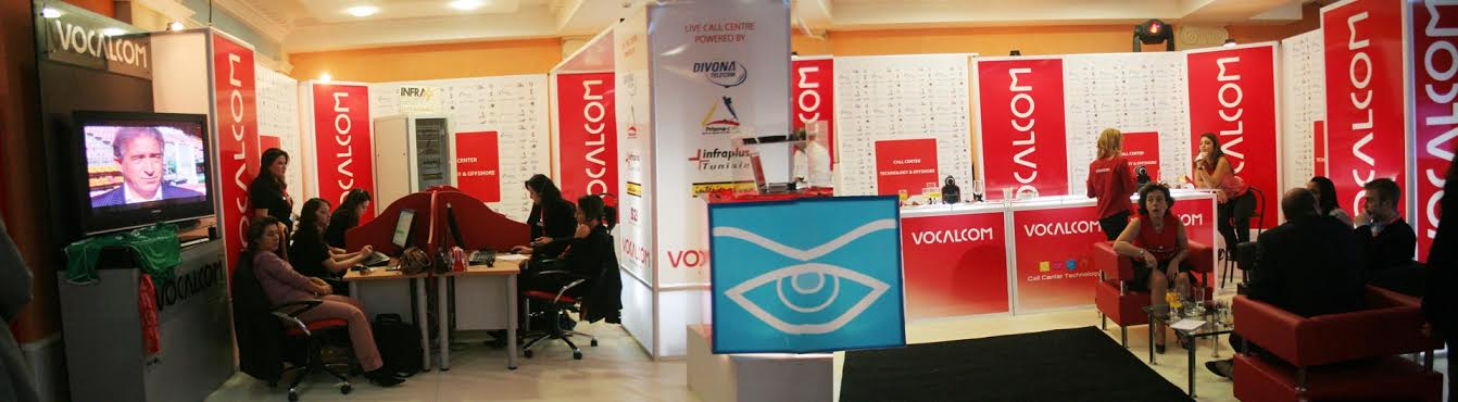 Aménagement de stand Vocalcom Tunisie