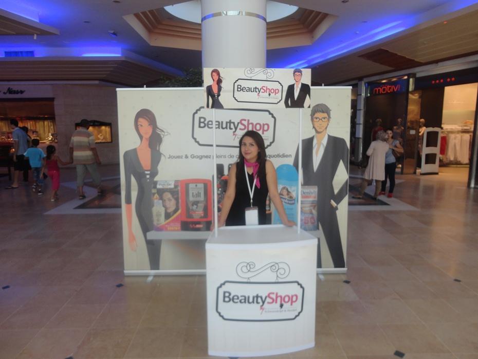 Conception de stand, publicité sur le point de vente Henkel Tunisie