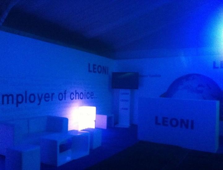 Arrangement of LEONI's stand