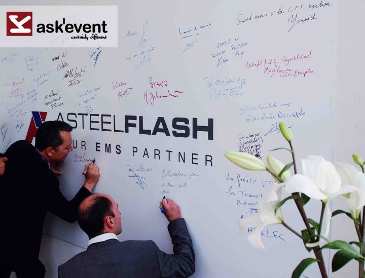 Inauguration of the new factory Asteelflash