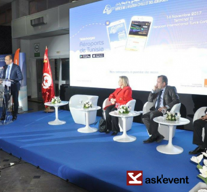 "launch of the ""Aéroports de Tunisie"" mobile application"