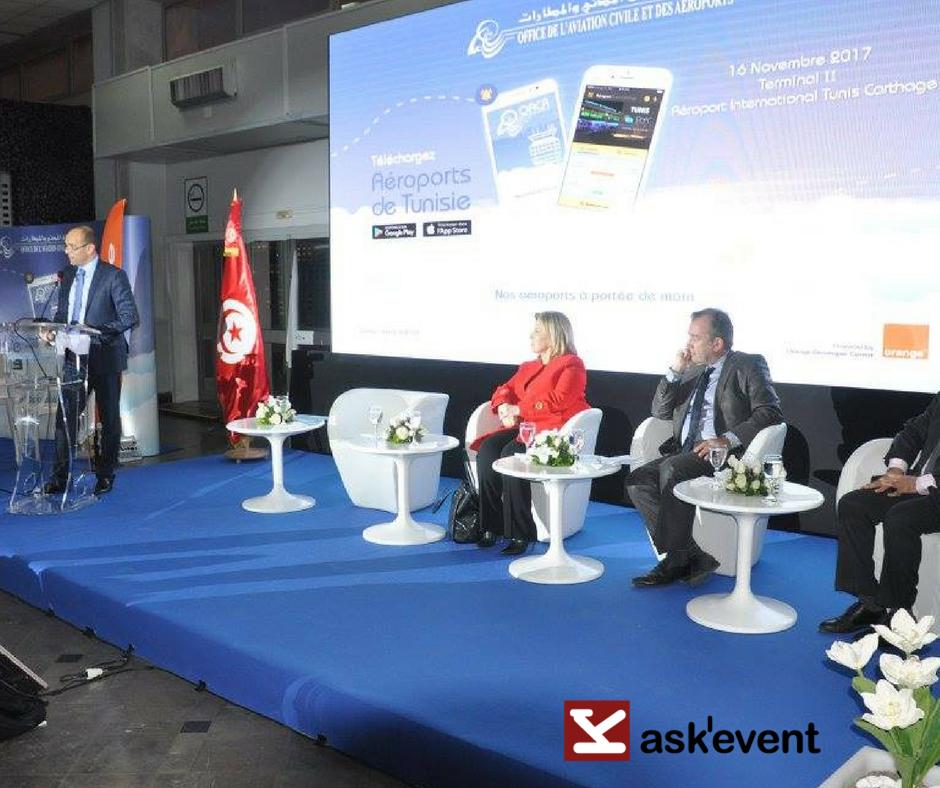 Lancement de l 39 application mobile a roports de tunisie - Office de l aviation civile et des aeroports tunisie ...
