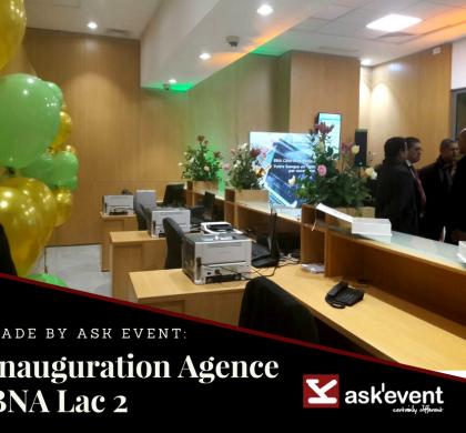 Inauguration de l'agence BNA LAC 2