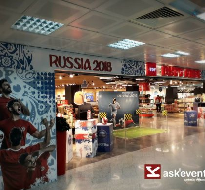 Decoration of tunisian Duty Free by the occation of world cup Russia 2018