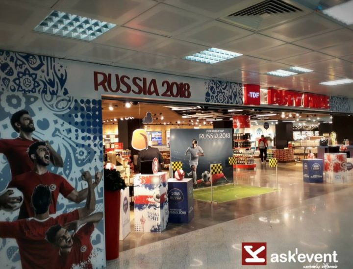 Décoration coupe du monde 2018 à Tunisia Duty Free